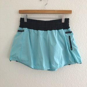 lululemon athletica Skirts - Lululemon Aquamarine Run: Tracker Skirt 8